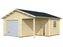 Garage in Legno d' Abete Nordico(44mm) - cm 530x570cm - ITALFROM28