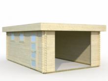Garage in Legno d' Abete Nordico(44mm) - cm 380x570 cm - ITALFROM29