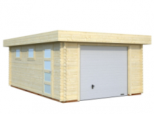 Garage in Legno d' Abete Nordico(44mm) - cm 380x570 cm - ITALFROM31