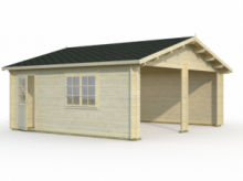 Garage in Legno d' Abete Nordico(44mm) - cm 595x530 cm - ITALFROM35