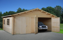 Garage in Legno d' Abete Nordico(44mm) - cm 595x530 cm - ITALFROM36